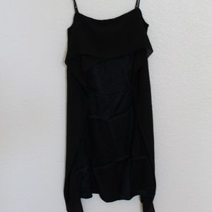 H&M Black Cami Dress w/ Chiffon Ruffle (NWOT)